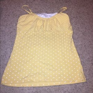 Energie tank top with polka dots and built In bra